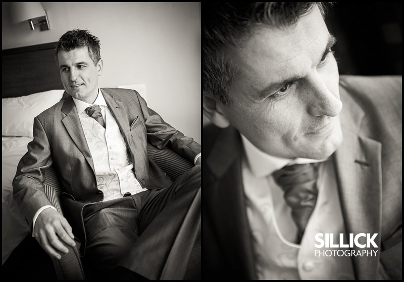 Hampshire wedding - Groom shots - Sillick Photography