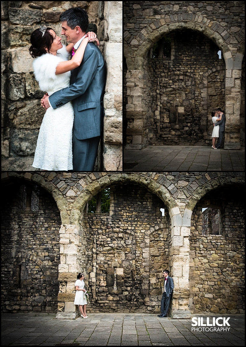 Hampshire wedding - couple shots on the old walls, Southampton - Sillick Photography