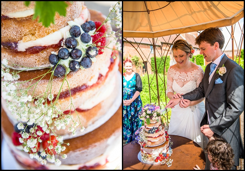Cake cutting - Wedding at the Walled Garden, Cowdray, West Sussex - Sillick Photography