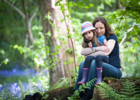 New Forest Lifestyle portrait photography - Hampshire and Dorset photographer - Sillick Photography - mother and daughter in the bluebell wood