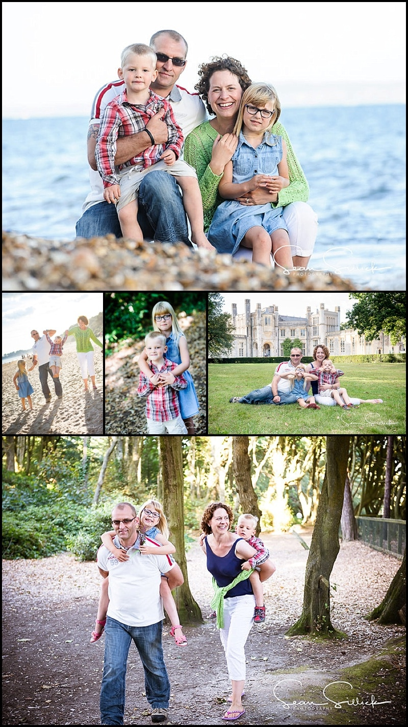 Family lifestyle session at Highcliffe Castle, Dorset - Gift certificates