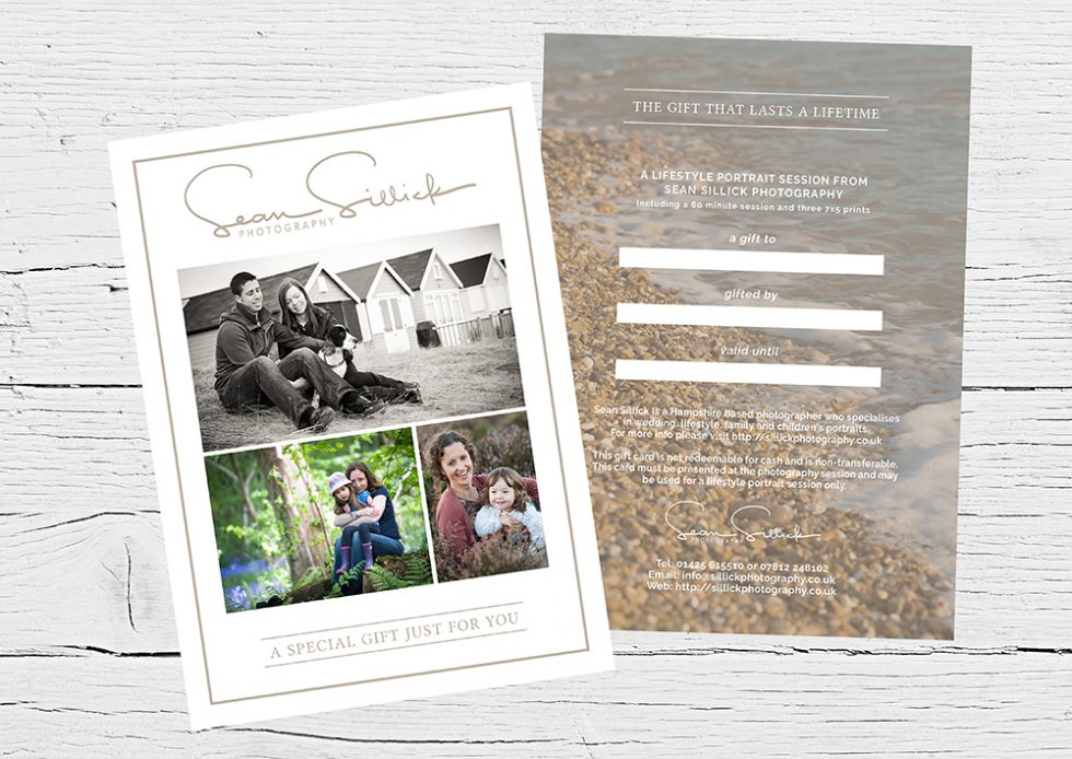 Gift certificates for lifestyle portrait shoots now available.