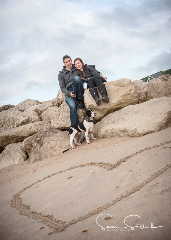 Valentines portrait session on the beach n Hampshire